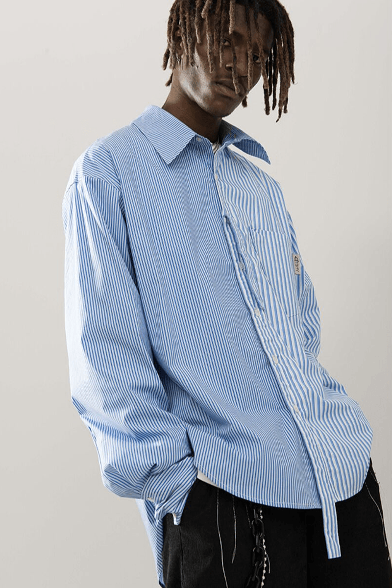 Empty Reference Split Striped L/S Shirt