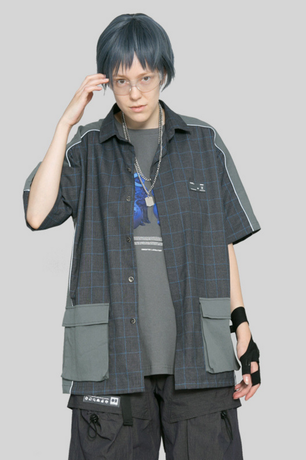 Observer Lab Plaid 3M Reflective S/S Shirt