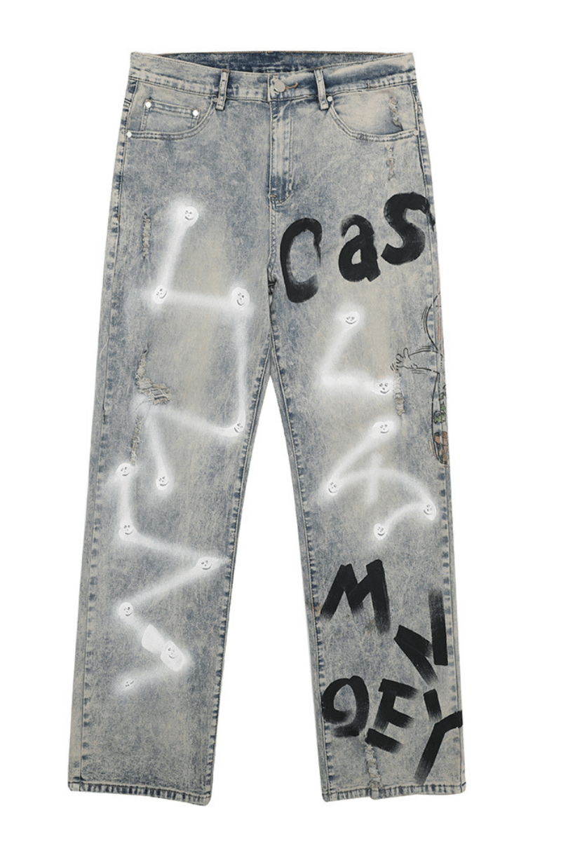 CZ Ghost Painted Loose Denim