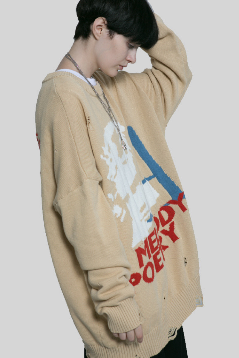 Observer Lab Beethoven Ripped Sweater