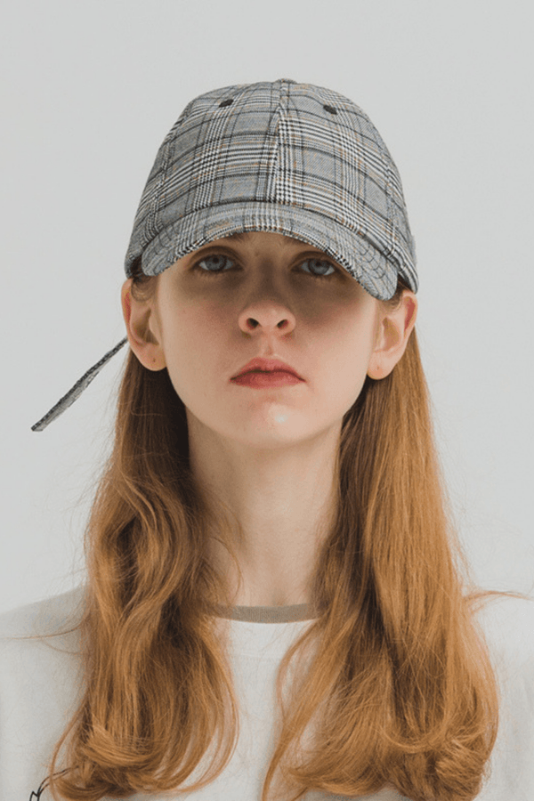 H/C Logo Plaid Cap