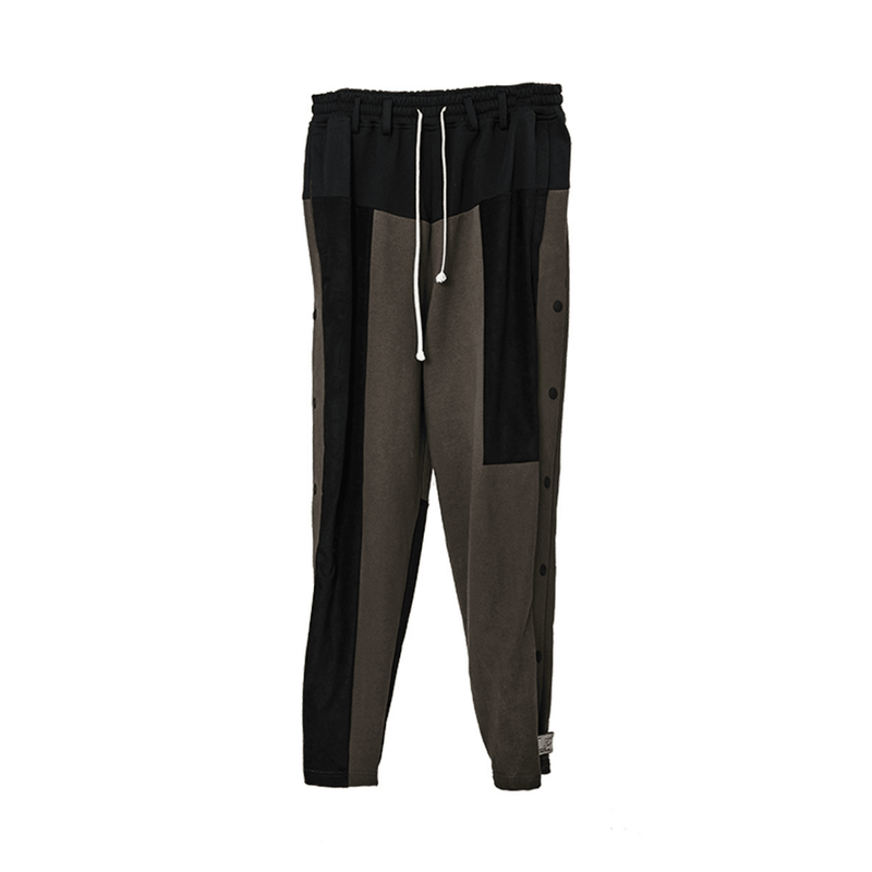 H/C Buttons Colorblock Pants