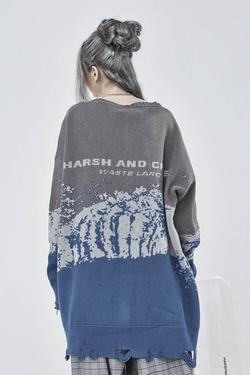 H/C Snow Mountain Ripped Sweater