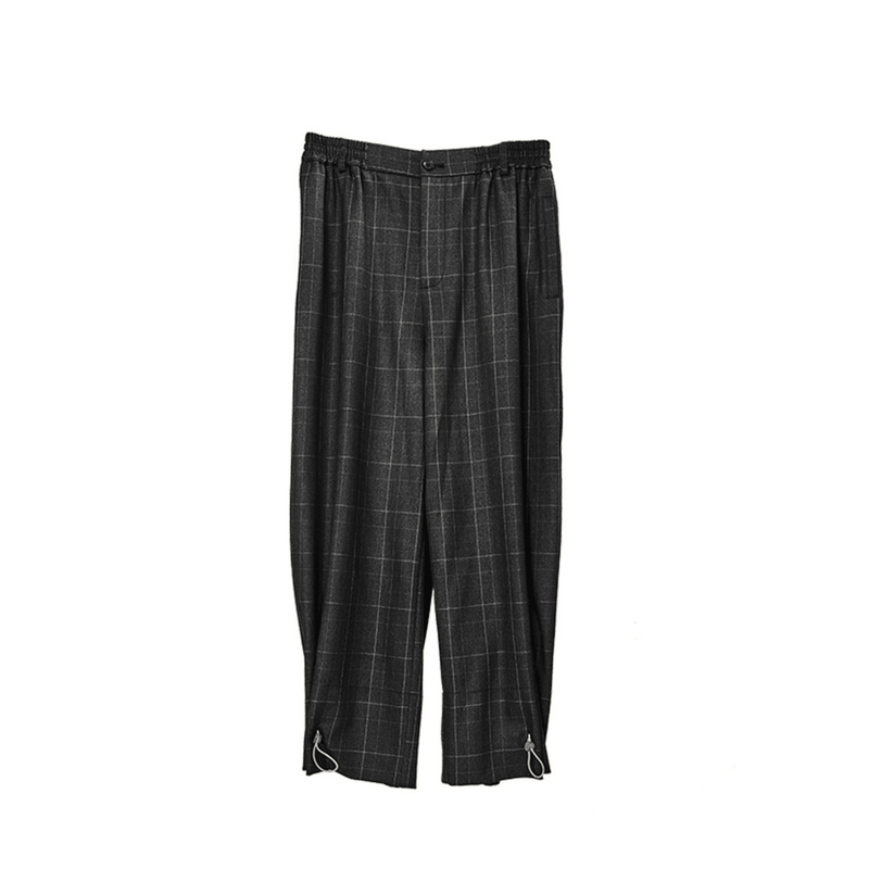 H/C Dark Adjustable Plaid Pants