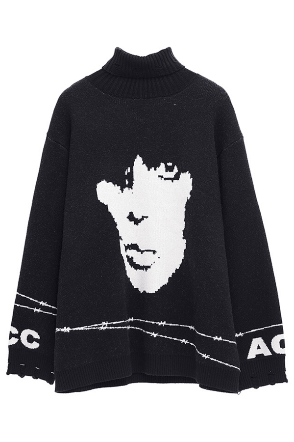 CZ Inmate Retro Loose Turtleneck