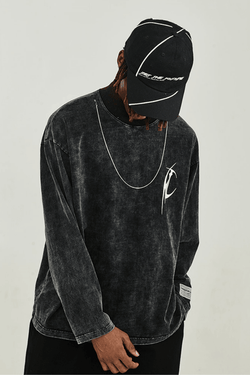 H/C Washed Logo L/S Tee