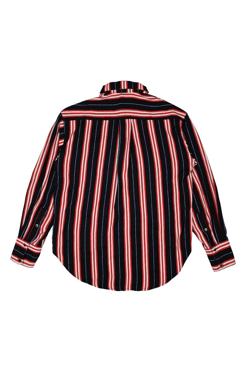 Empty Reference Black and Red Striped L/S Shirt