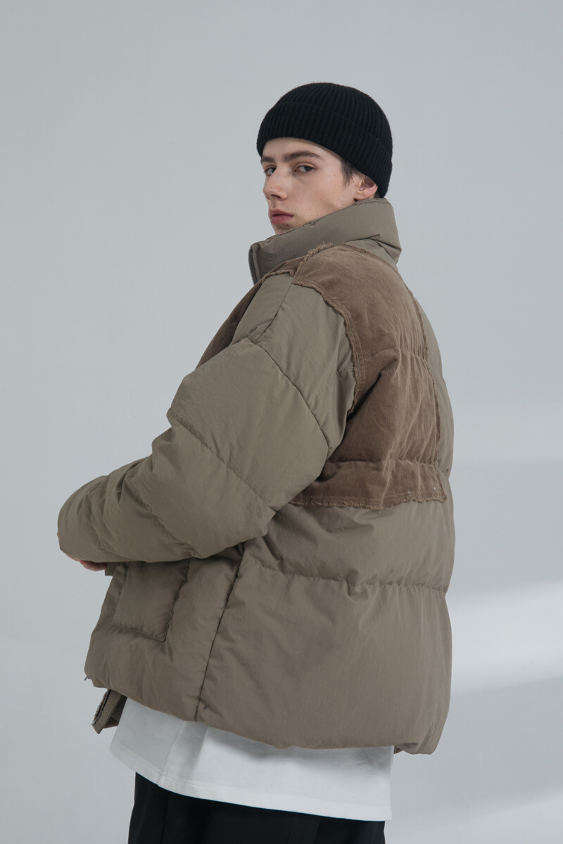 THINGY Corduroy Patch Down Jacket