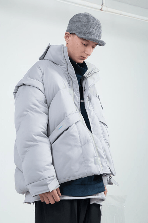 BLIND Detachable Neckline Down Jacket