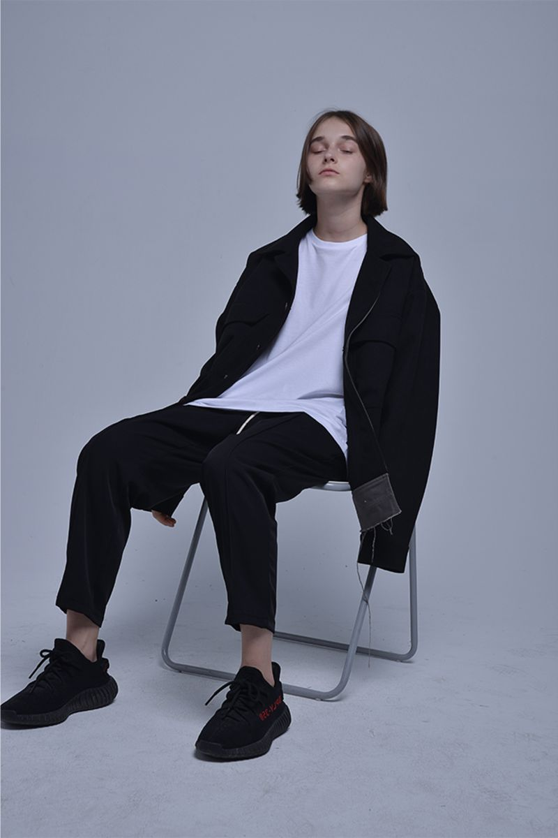THINGY Black Woolen Jacket
