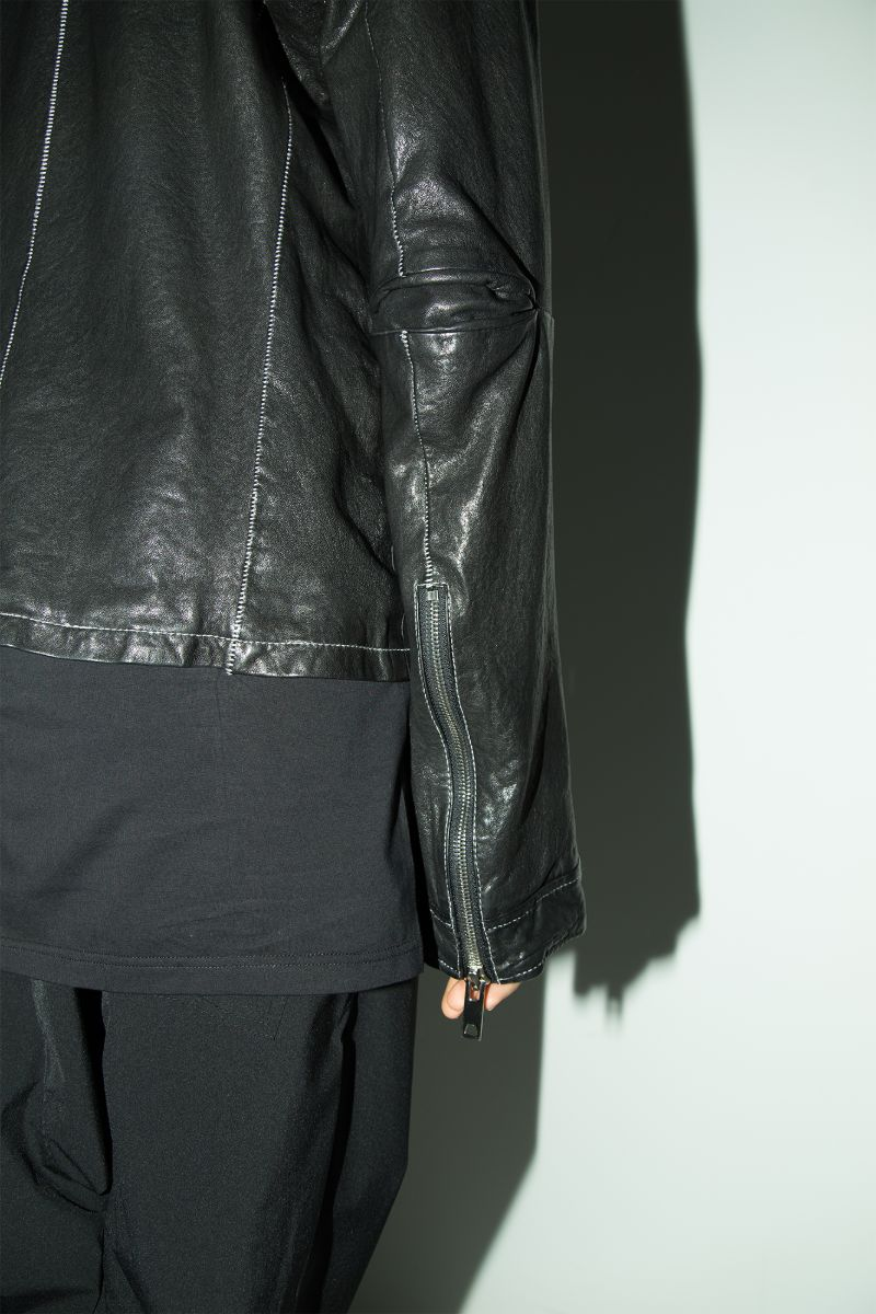 Unknown World FW17 Irregular Leather Coat