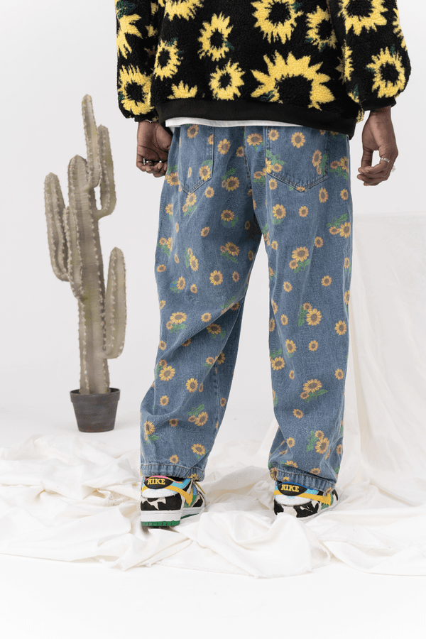 CZ Sunflower Printed Denim