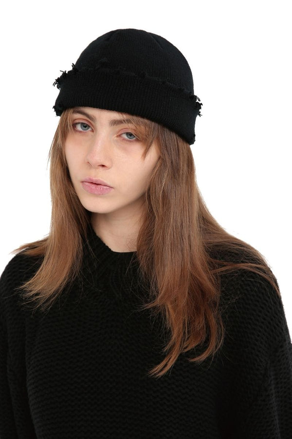 Unknown World Knitted Distressed Hat