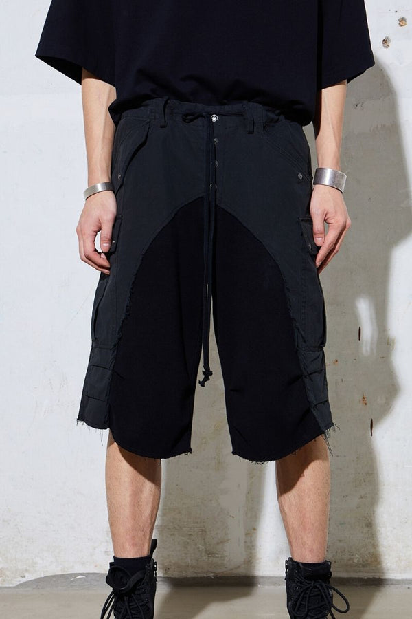 Unknown World Raw Stitched Shorts