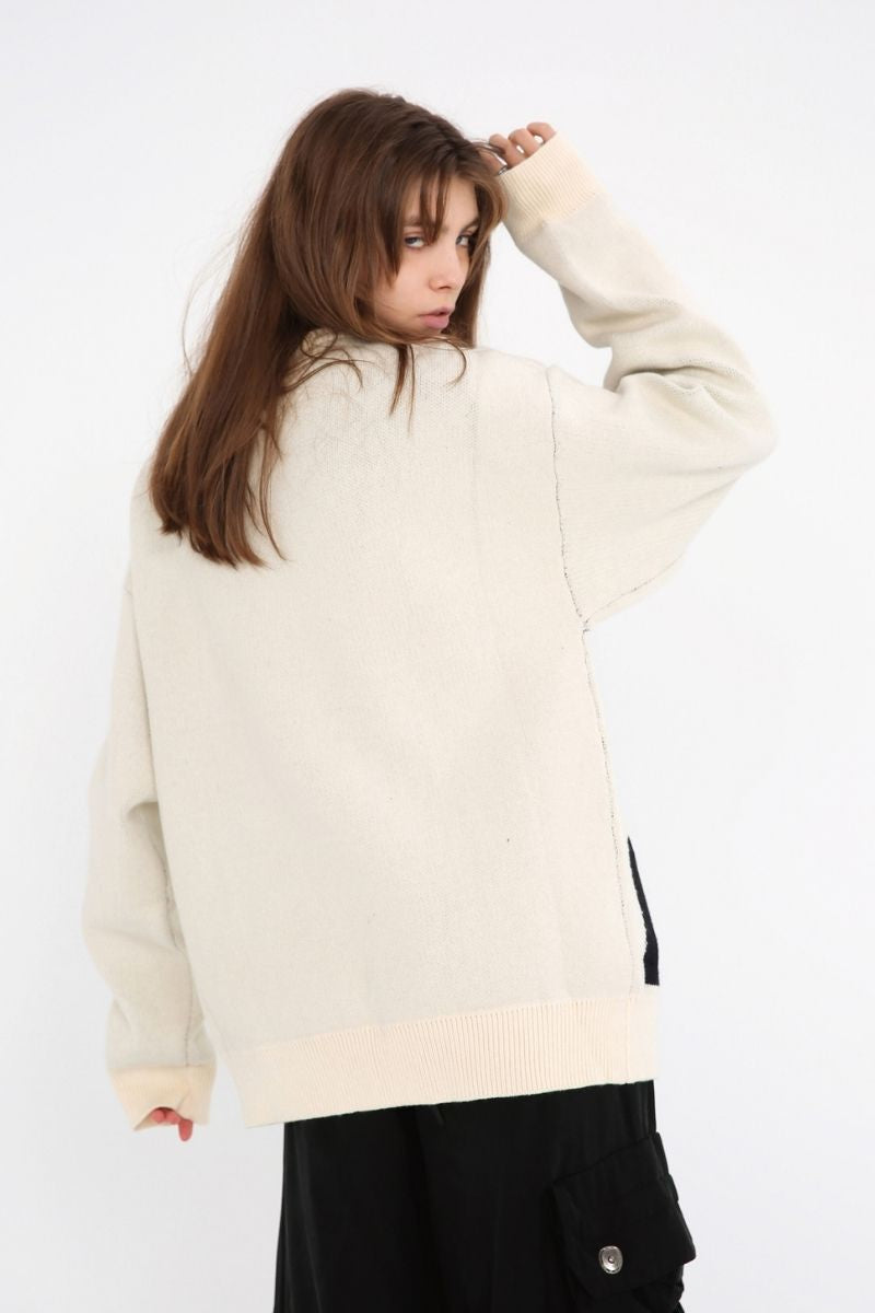 Unknown World Portrait Loose Sweater