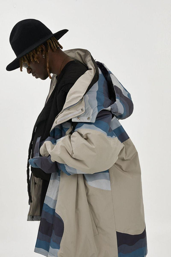 BLIND Gradient Stitched Down Hooded Coat