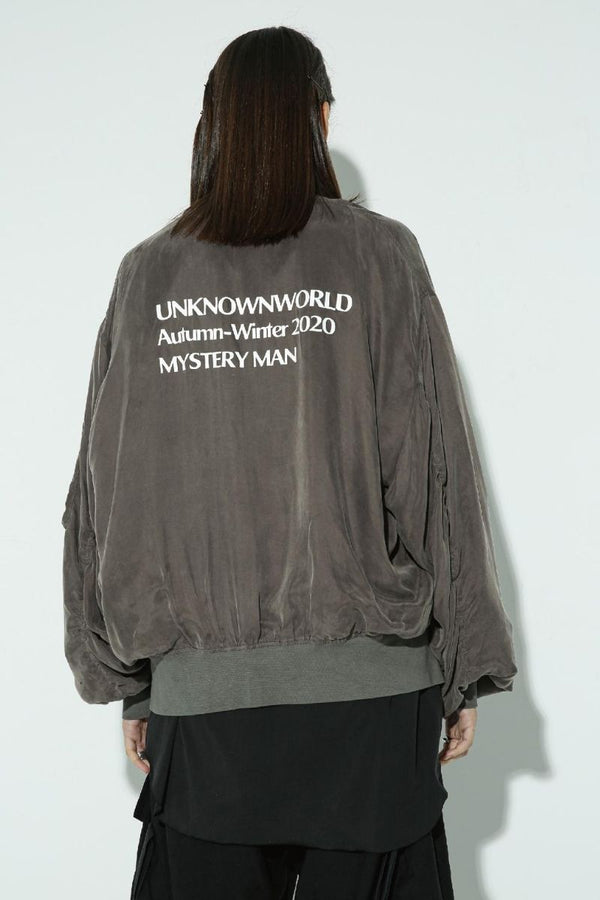 Unknown World Washed Staff Bomber Jacket