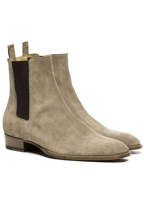 CZ Leather Chelsea Boots