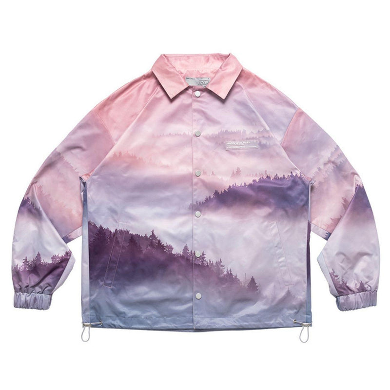 H/C Forest Print Coach Jacket
