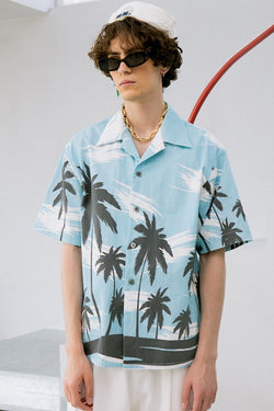 Mix7 Sky Blue Cuban Shirt