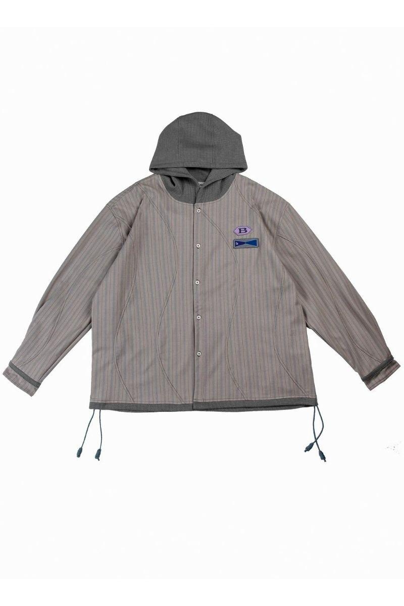 BLIND Striped Hooded Shirt