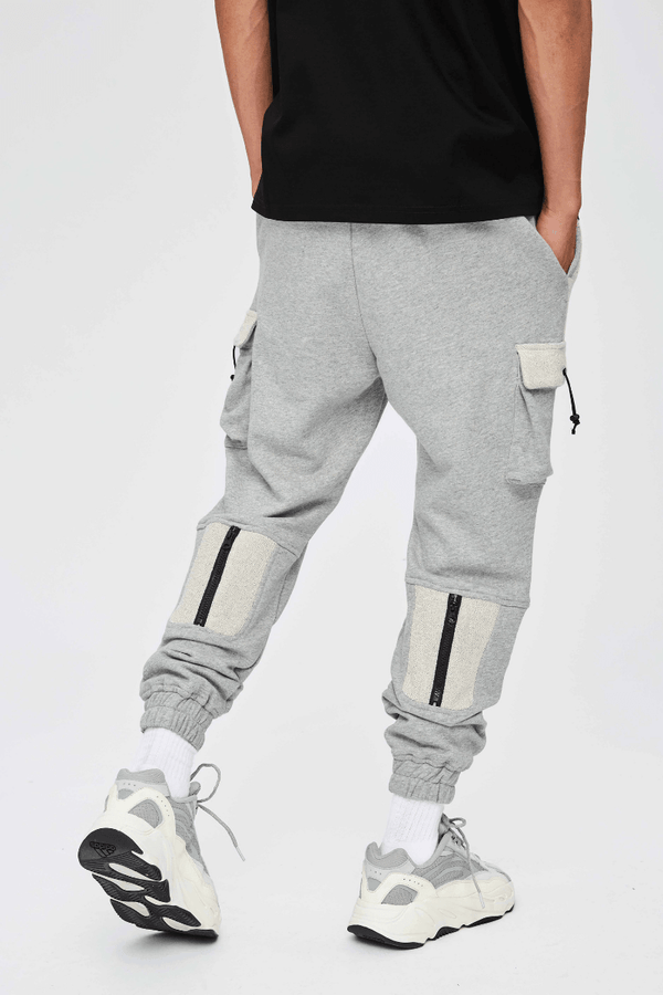 CZ Gray Cargo Zipper Sweatpants