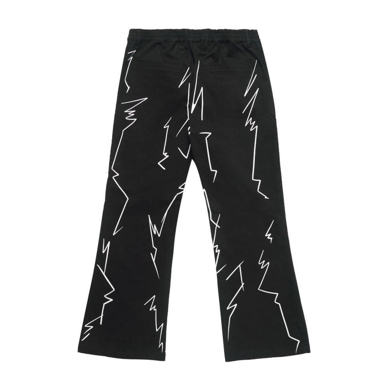 Empty Reference Lightnings Printed Flared Trousers