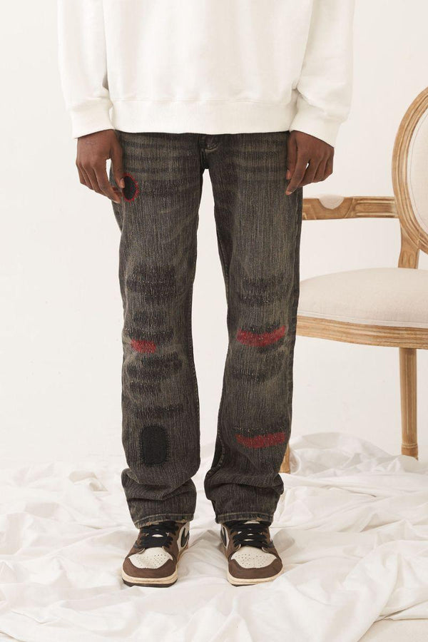 Empty Reference Patches Loose Denim