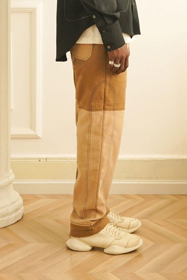 Empty Reference Stitched Embroidered Logo Trousers