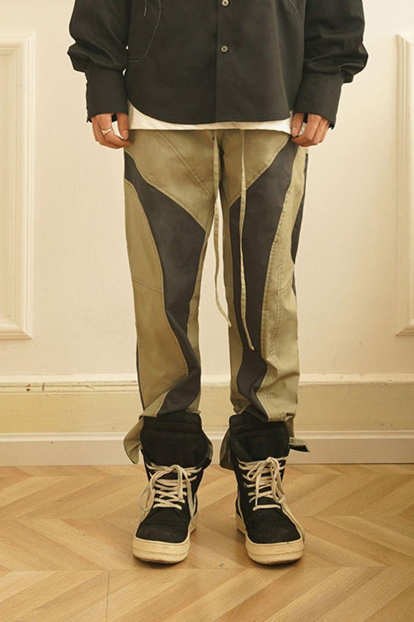 Empty Reference Stitched Irregular Trousers