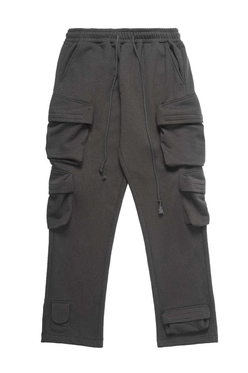 Empty Reference Multi Pocket Loose Sweatpants