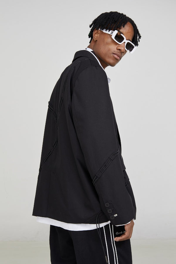 STEEPC Drawstrings Tailored Suit Jacket