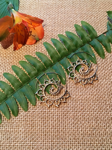 Spiral Filigree Earrings