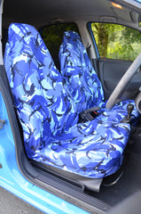 Blue Camouflage Small Universal Seat Cover