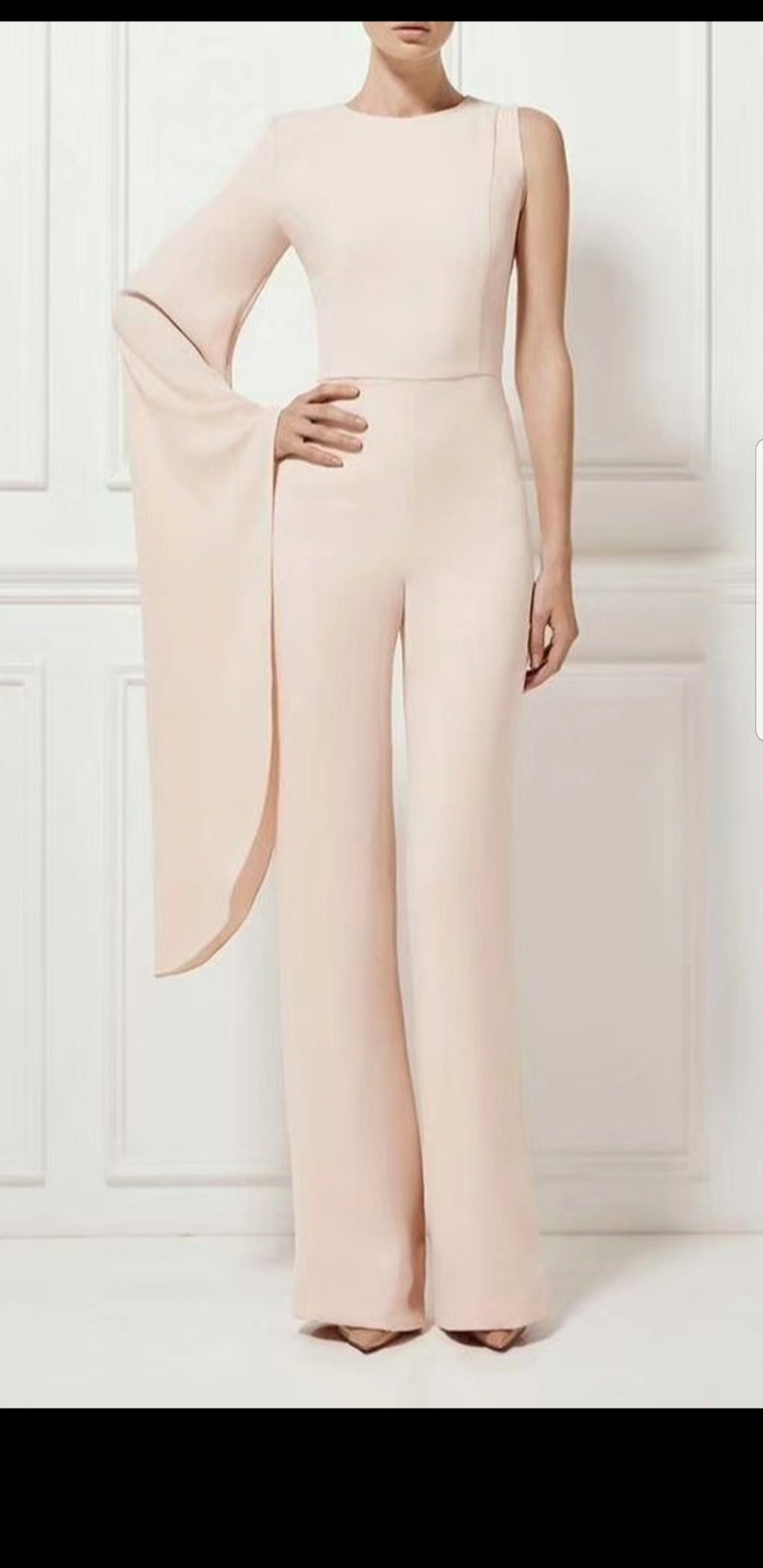 Kiara One Shoulder Jumpsuit-Pink