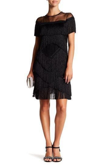 Lorretta Fringe Black Dress - UberStyleWoman