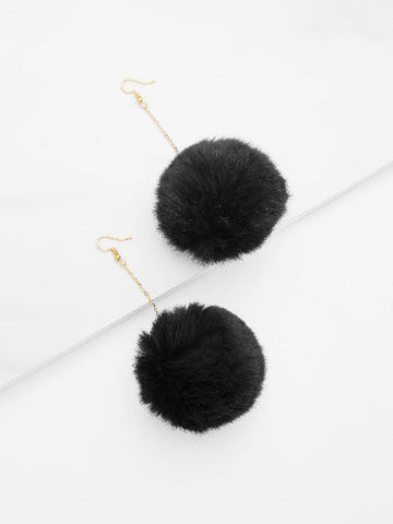 White & Black Drop Earrings