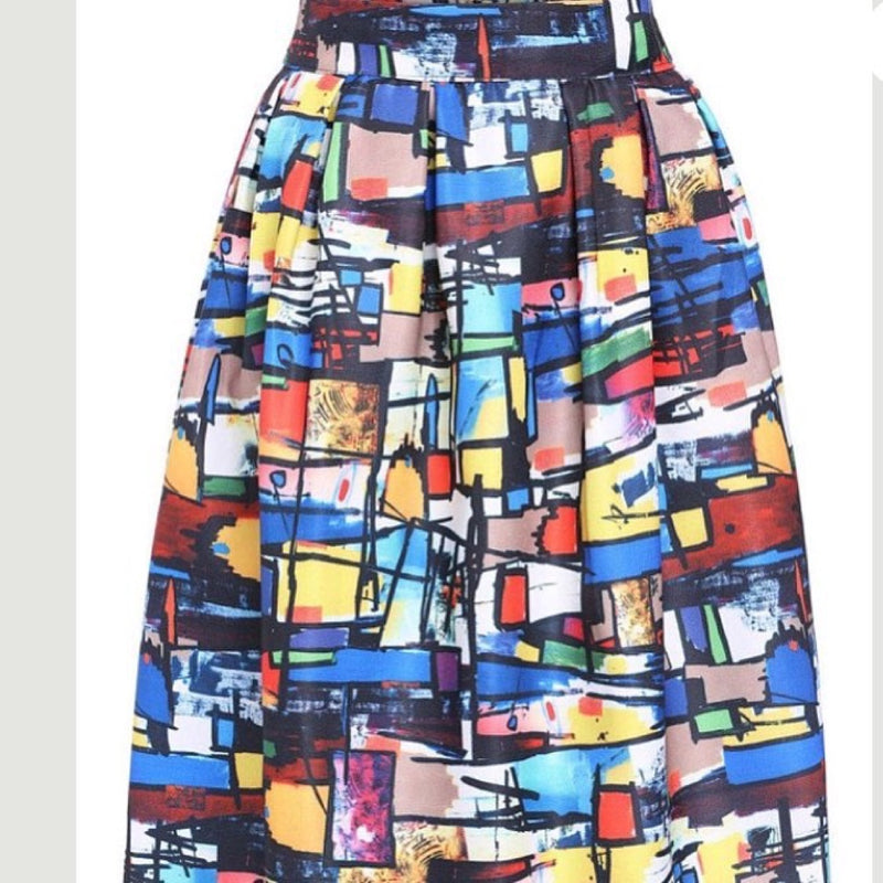 Bold Art Multi Colored Skirt