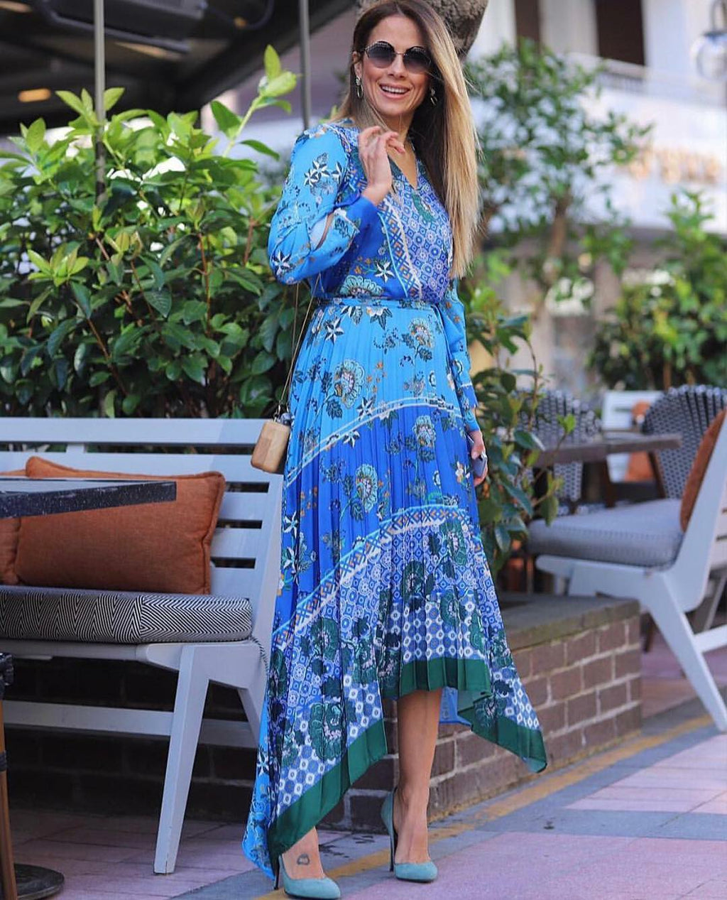 Lilly Baroque Dress- Blue