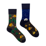 Camping | Colourful Mismatched Funny Socks | King Stone | Canada