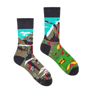 Climbing / Hiking | Mismatched Funny Socks | King Stone | Canada