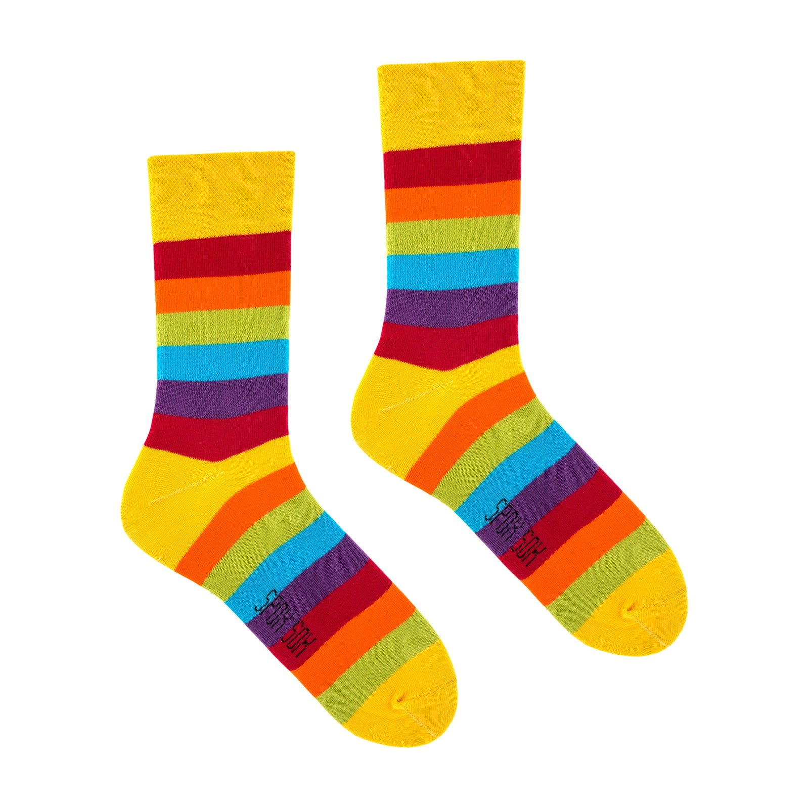 Rainbow | Colourful Funny Socks | King Stone | Canada | SpoxSox | Spox Sox