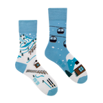 Ski Slope | Colourful Mismatched Funny Socks | King Stone | Canada | SpoxSox | Spox Sox