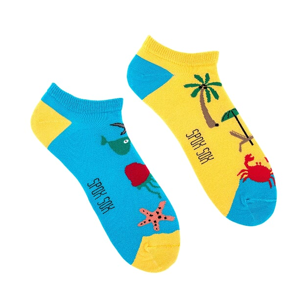 Beach | Colourful Mismatched Funny Socks | King Stone | Canada