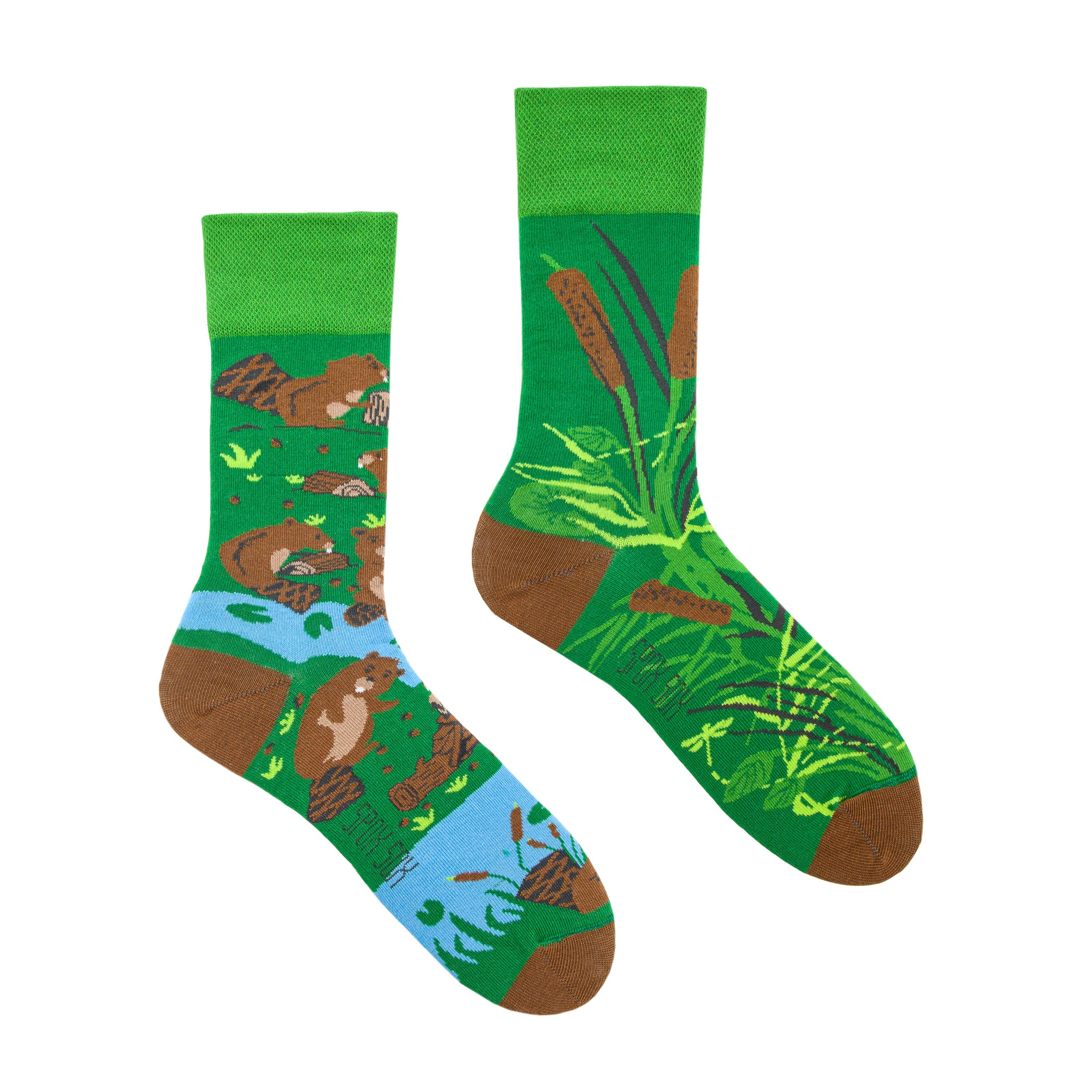 Beavers | Colourful Mismatched Funny Socks | King Stone | Canada