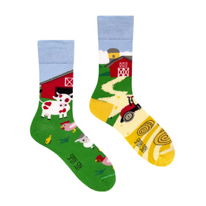 Farm | Colourful Mismatched Funny Socks | King Stone | Canada | SpoxSox | Spox Sox
