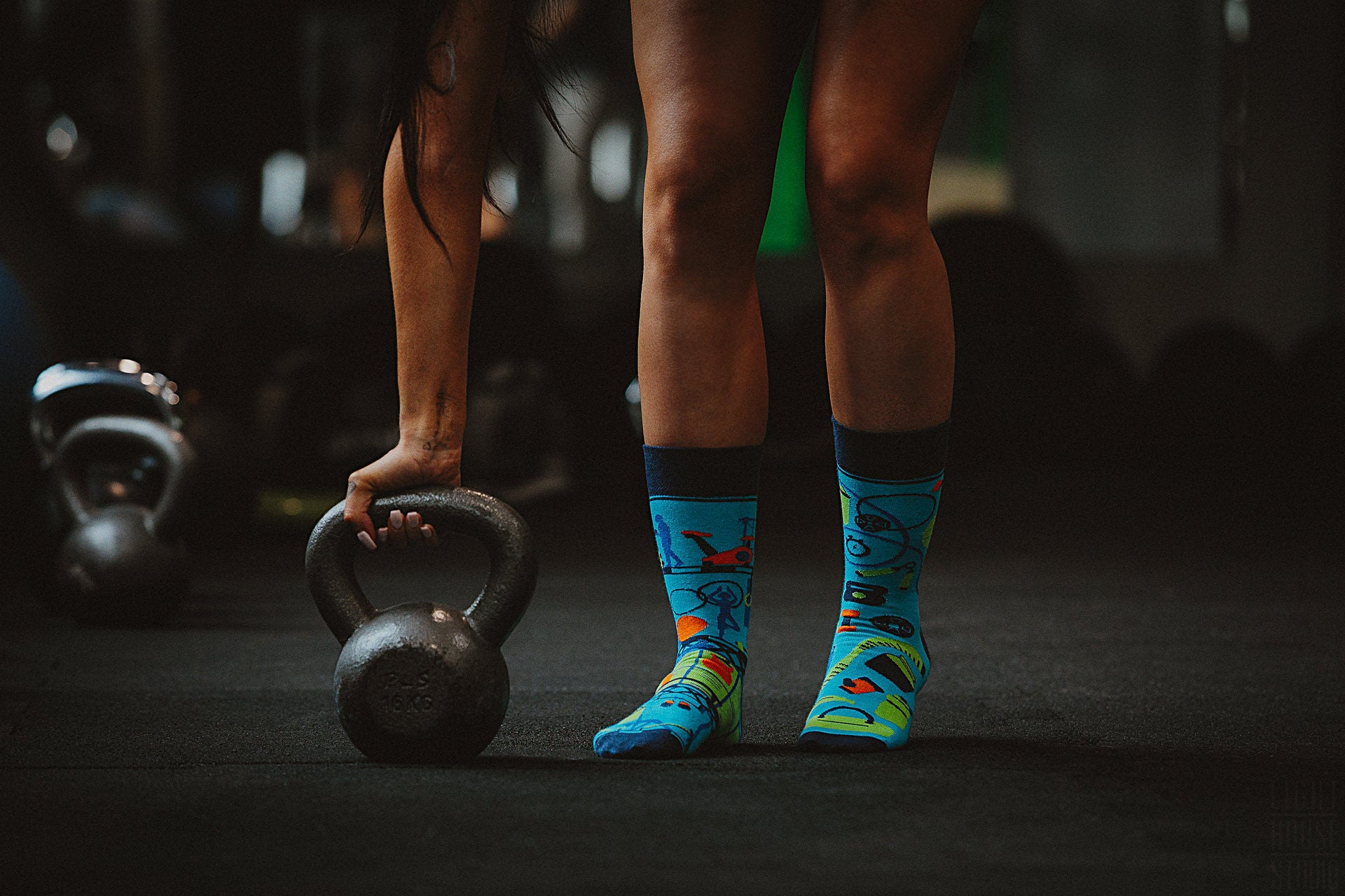 Gym | Crossfit | Colourful Mismatched Funny Socks | King Stone | SpoxSox | Spox Sox