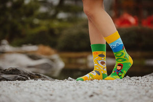 Tea | Movie | Colourful Mismatched Funny Socks | King Stone | Canada