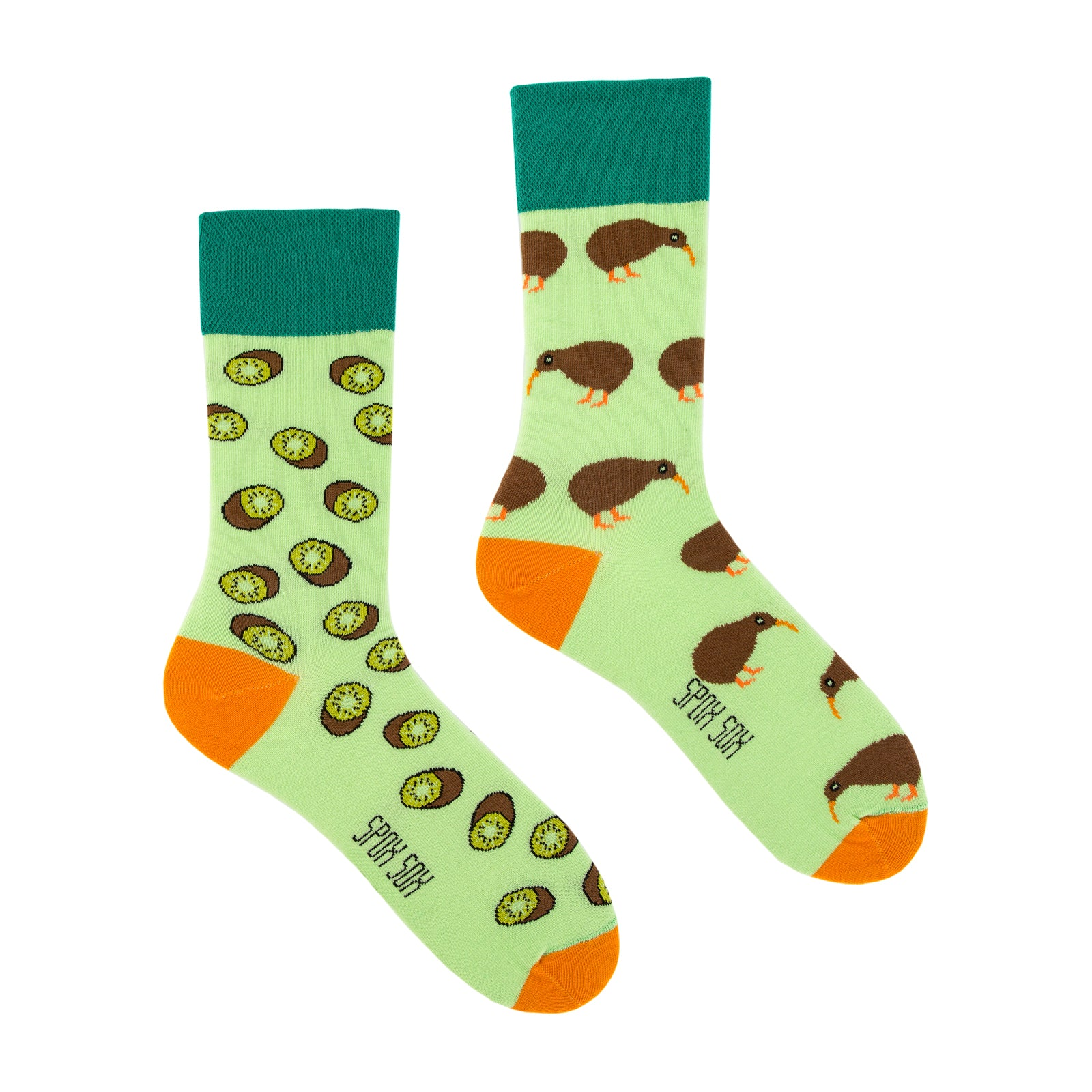 Kiwi | Colourful Mismatched Funny Socks | King Stone | Canada | SpoxSox | Spox Sox