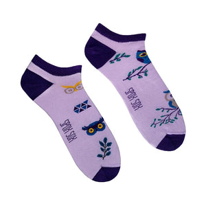 Owl | Colourful Mismatched Funny Socks | King Stone | Canada | SpoxSox | Spox Sox